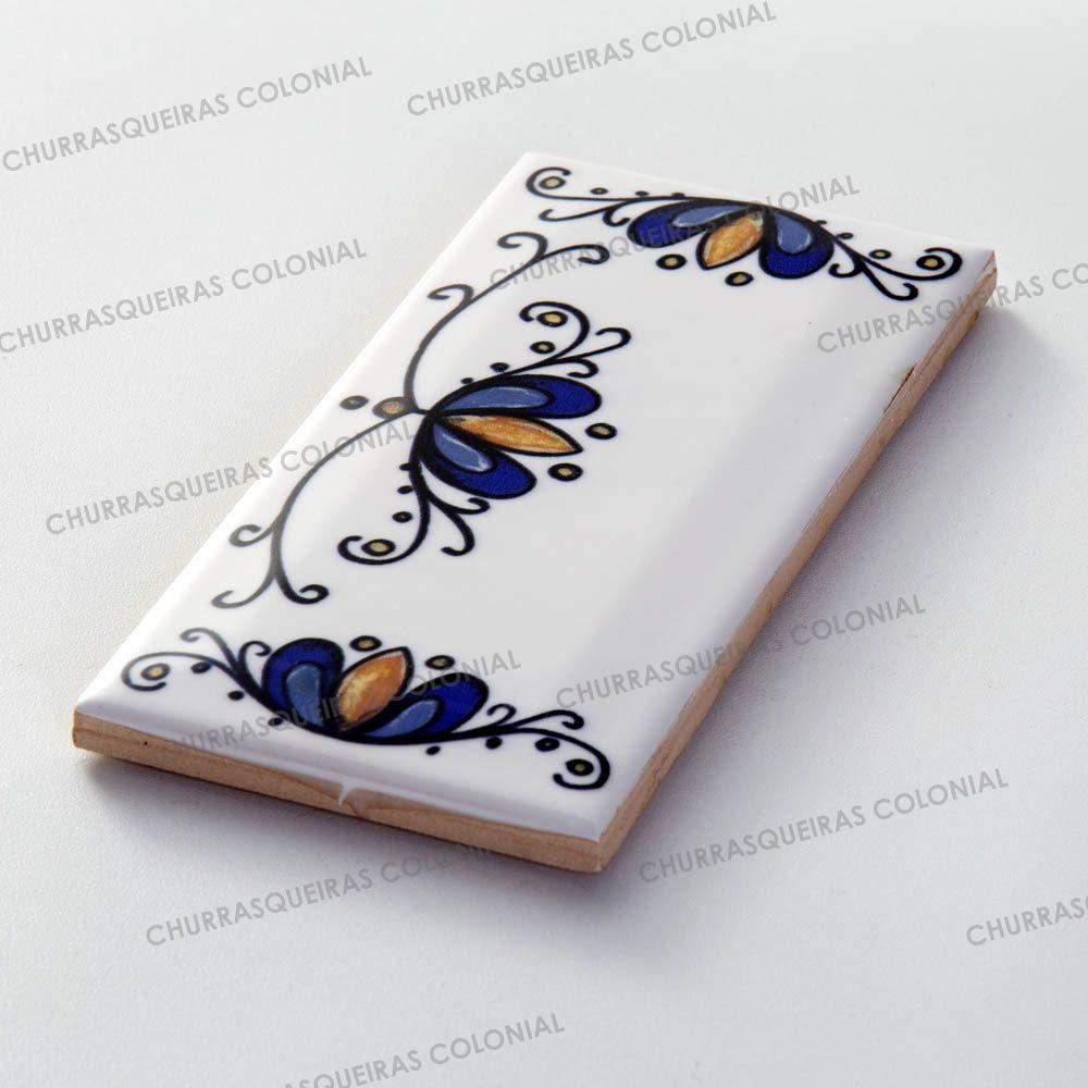 Número Decorativo Acabamento Direito para Casa Residência em Cerâmica Esmaltada 7,5 x 15 cm