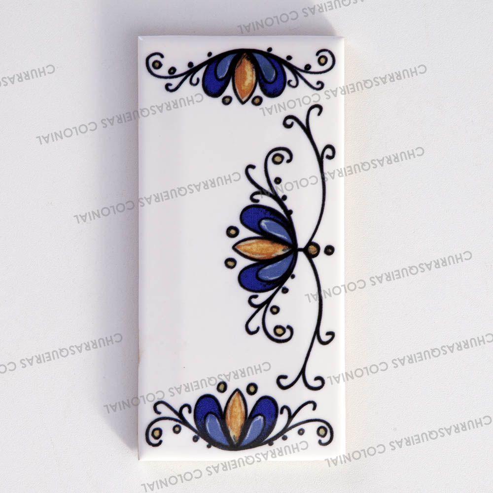 Número Decorativo Acabamento Esquerdo para Casa Residência em Cerâmica Esmaltada 7,5 x 15 cm