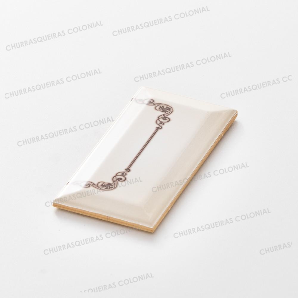 Número para Residência Cerâmica Esmaltada Marrom 7,5 x 15 cm Acabamento Final