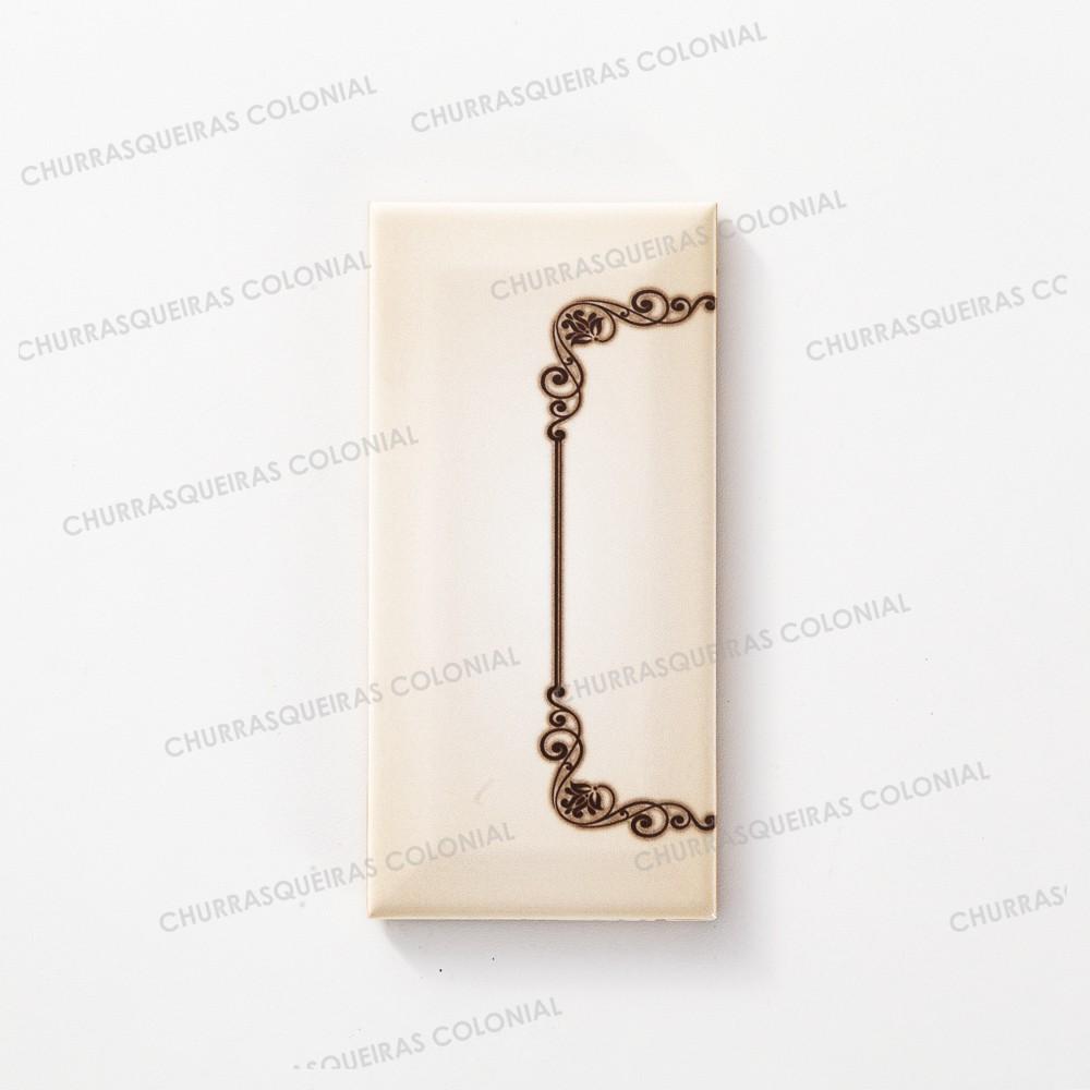 Número para Residência Cerâmica Esmaltada Marrom 7,5 x 15 cm Acabamento Inicial