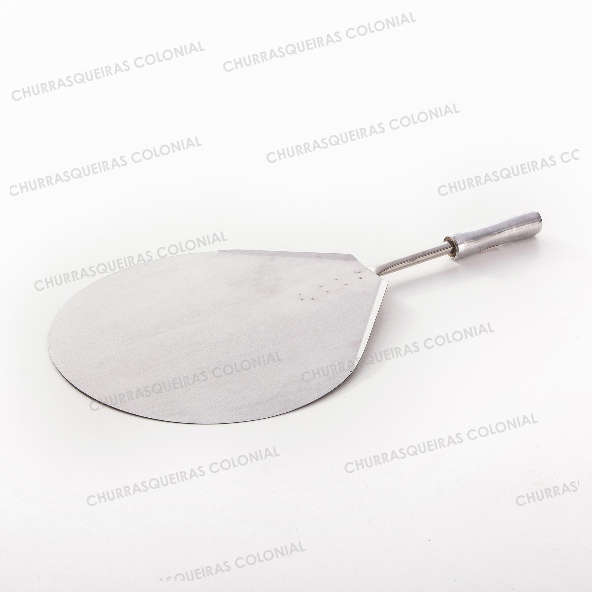 Pá para Pizza em Aço Inox Cabo Alumínio 36 cm Gota Selmetal