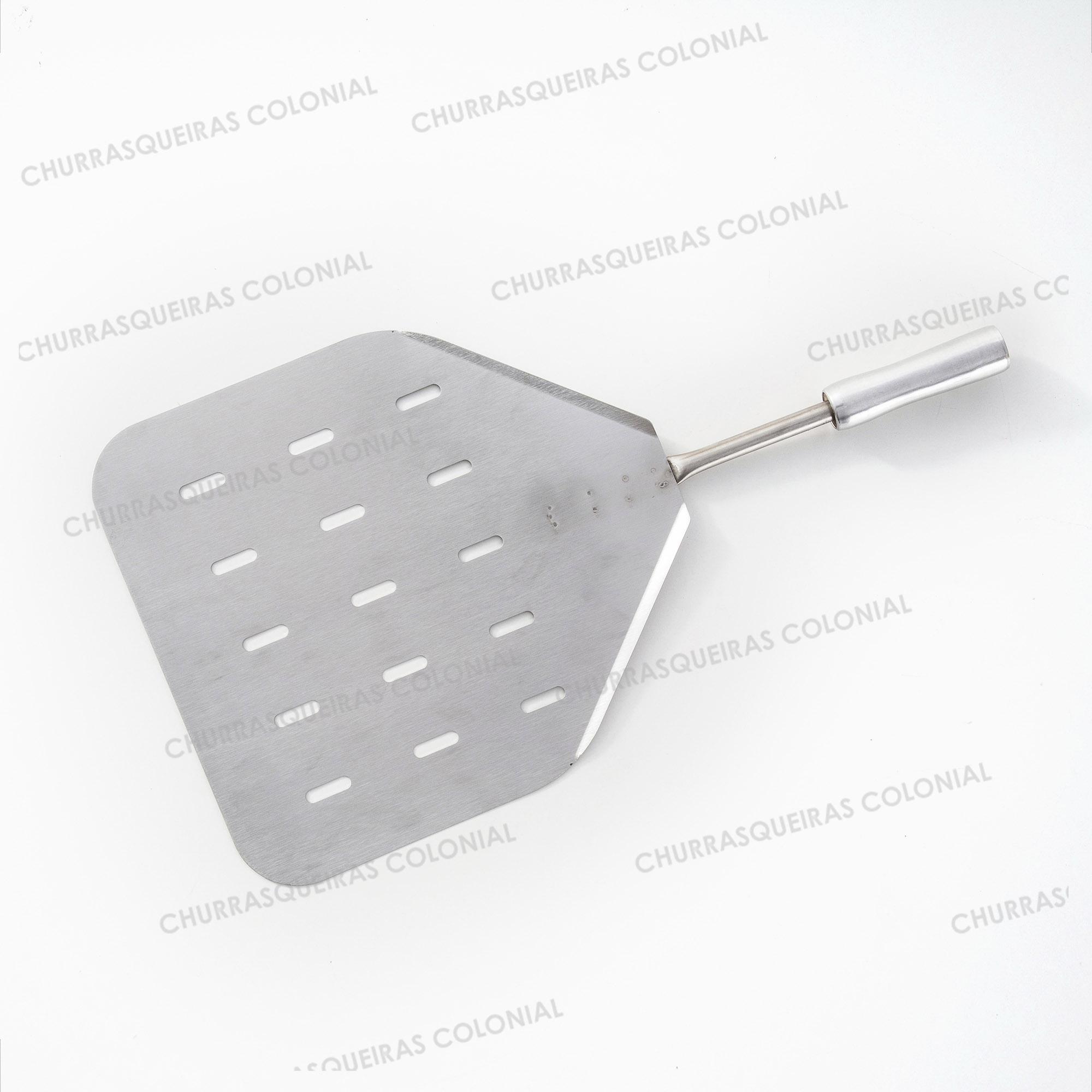 Pá para Pizza Quadrada em Aço Inox 65 cm Selmetal
