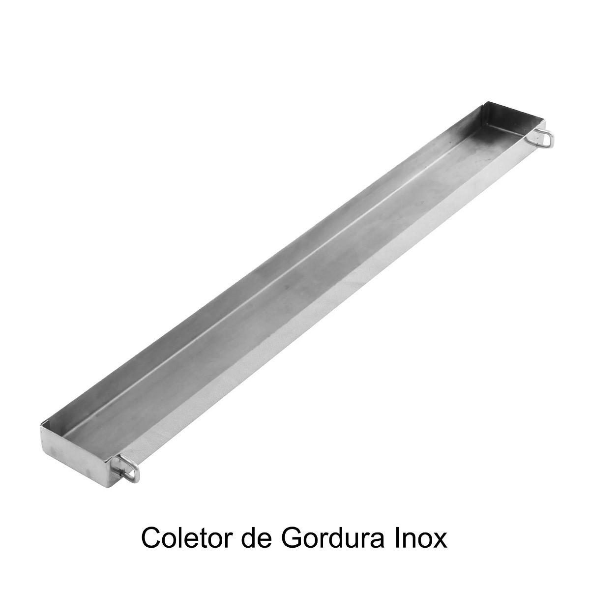 Parrilla Grillex para Churrasco Aço Inox 304 com Grelha Argentina e Grelha de Descanso 50 cm