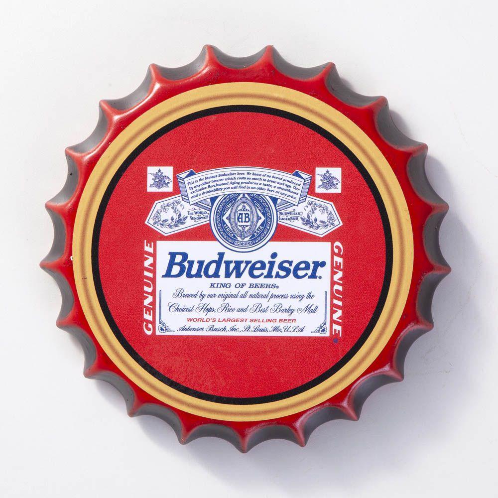 Placa Cerâmica Decorativa de parede Budweiser 22 cm