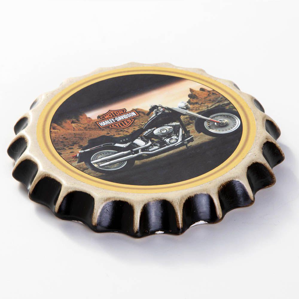Placa Cerâmica Decorativa de parede Harley Davidson 22 cm