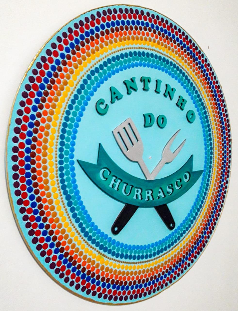 Placa Decorativa Cantinho do Churrasco Pintura Livre 35 cm CC-10