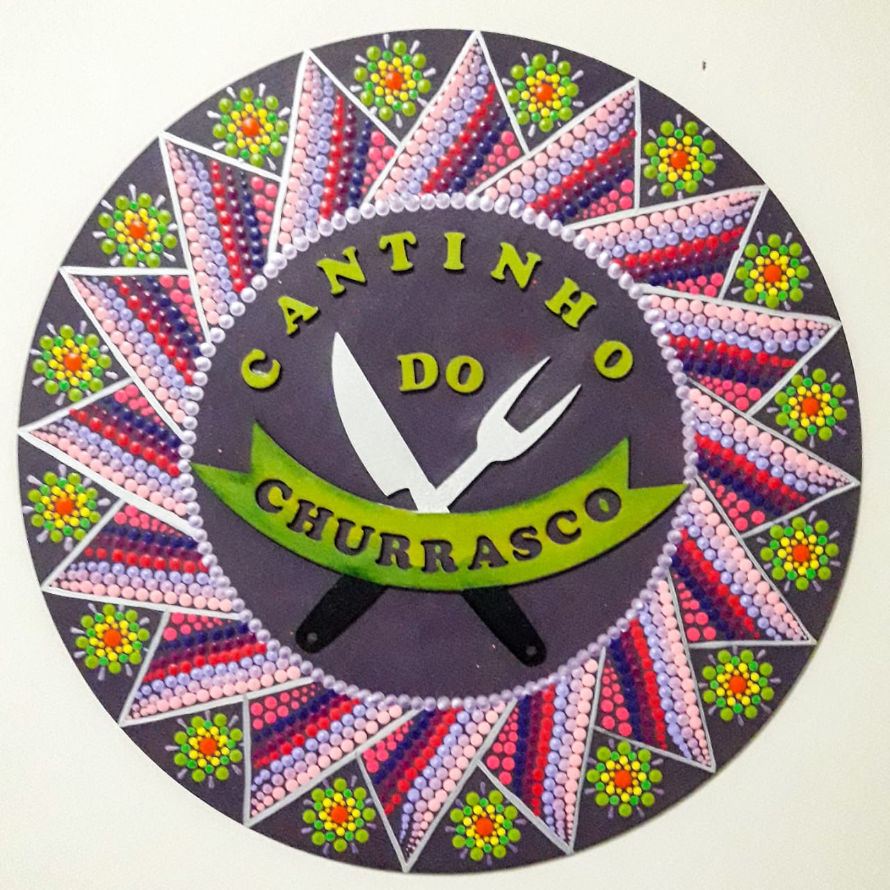 Placa Decorativa Cantinho do Churrasco Pintura Livre 35 cm CC-80