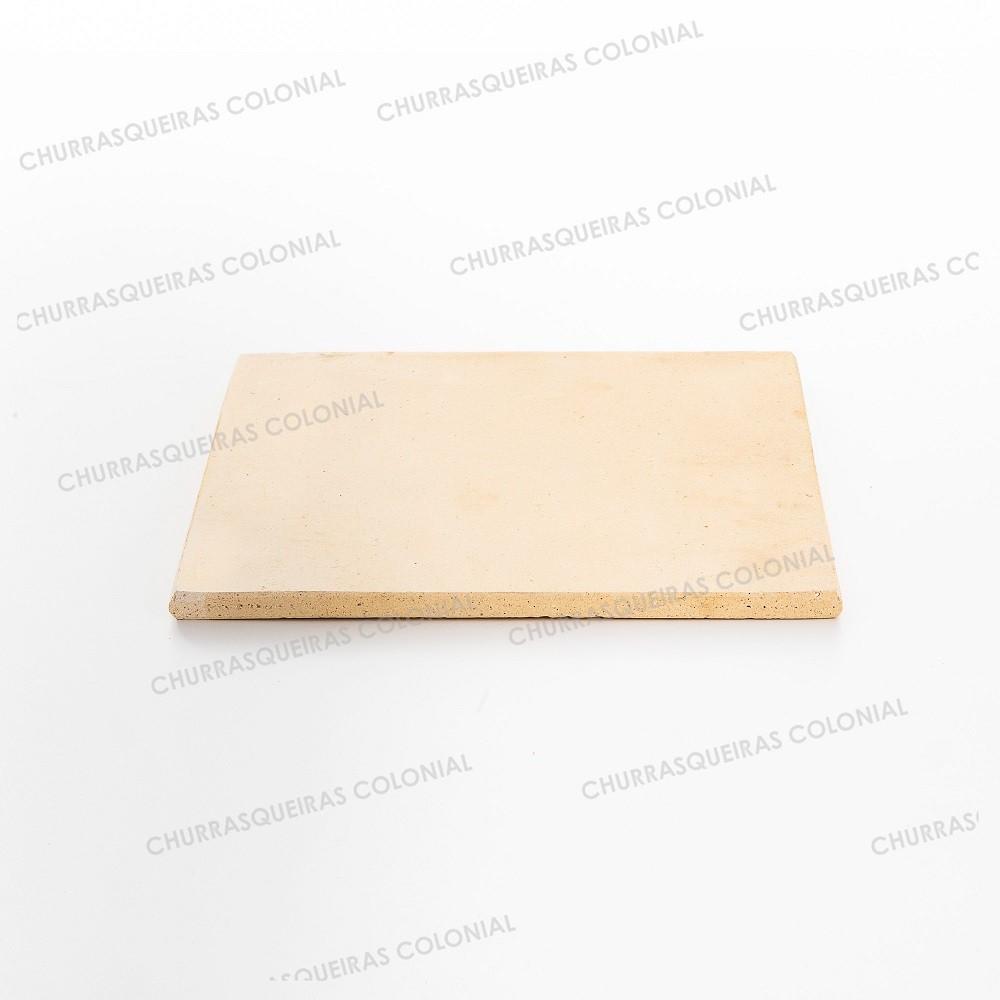Placa Refratária 30 x 30 cm para Pizza Pães Esfihas em Fornos e Churrasqueiras