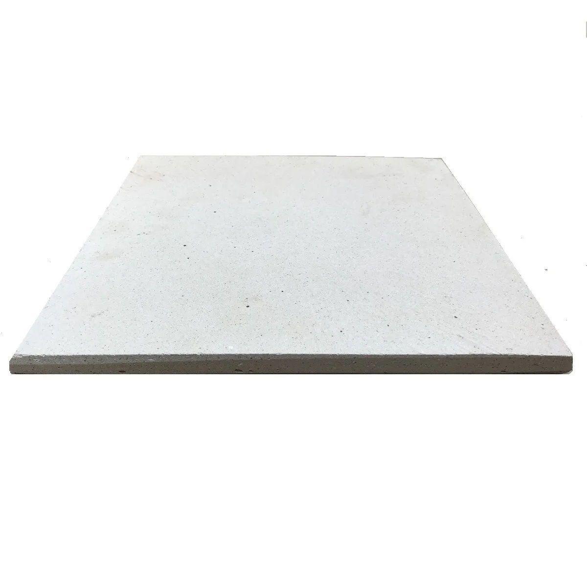 Placa Refratária 45 x 45 cm para Pizza Pão Esfihas
