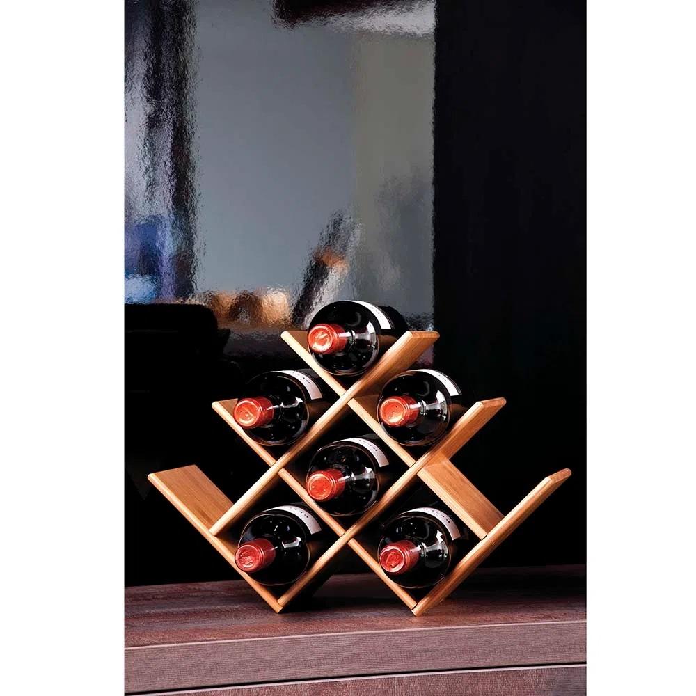Rack de Mesa para Vinhos em Bambu