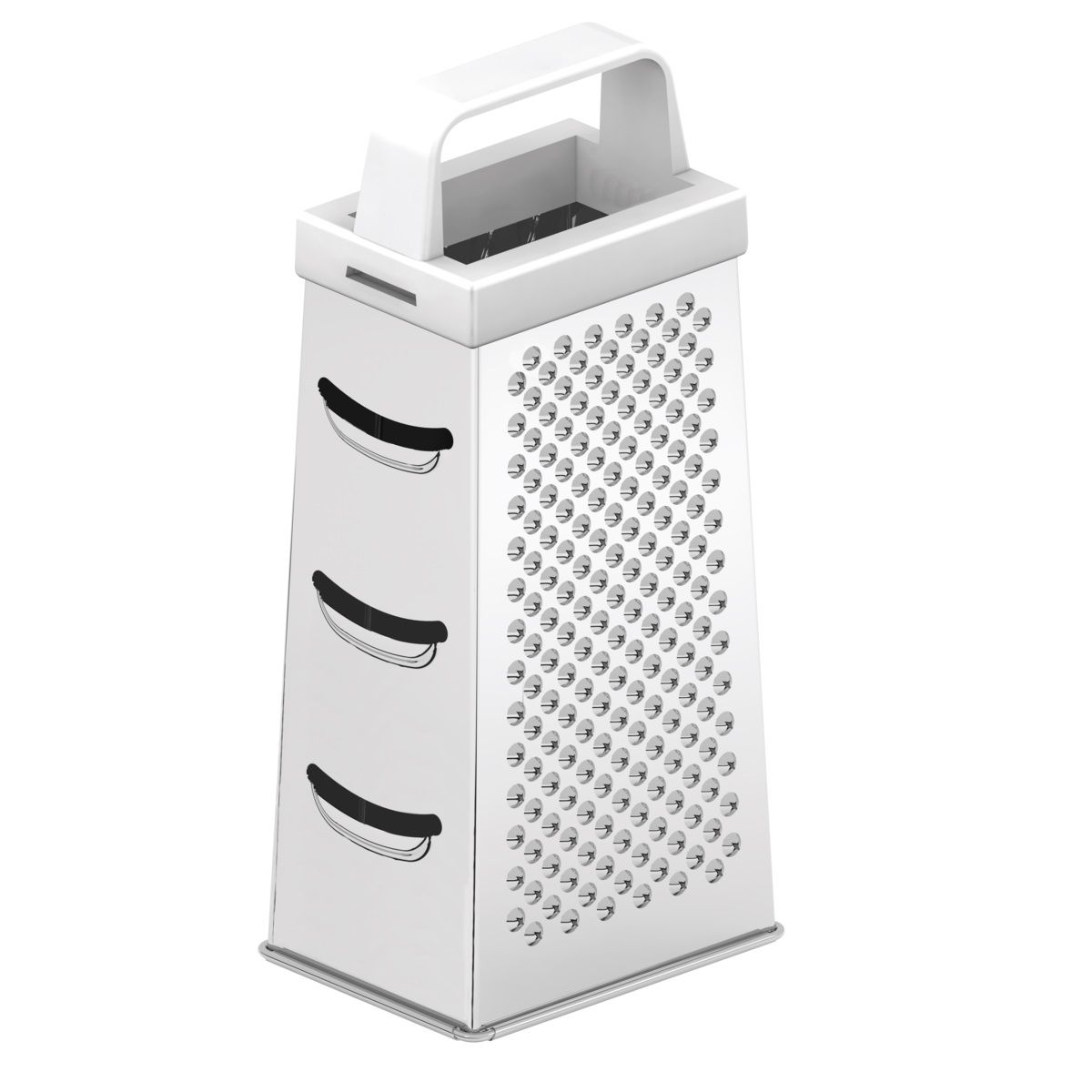 Ralador 4 Faces Tramontina Utilitá em Aço Inox e Alça em ABS
