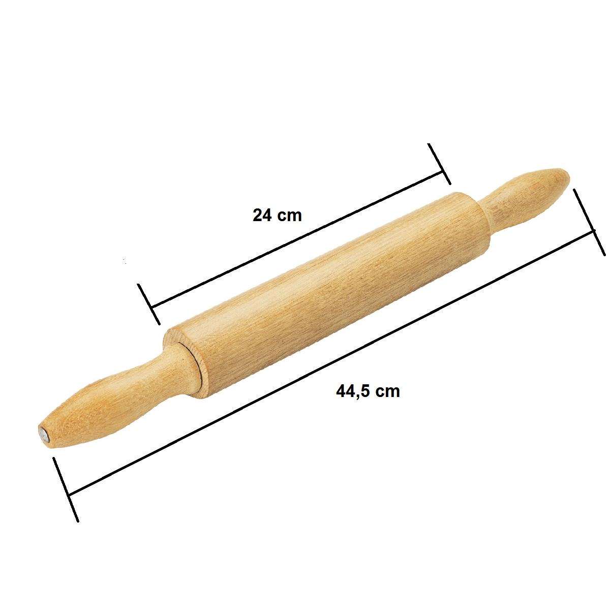 Rolo de Madeira Maciça Tramontina para Massa de Pizza e Pão