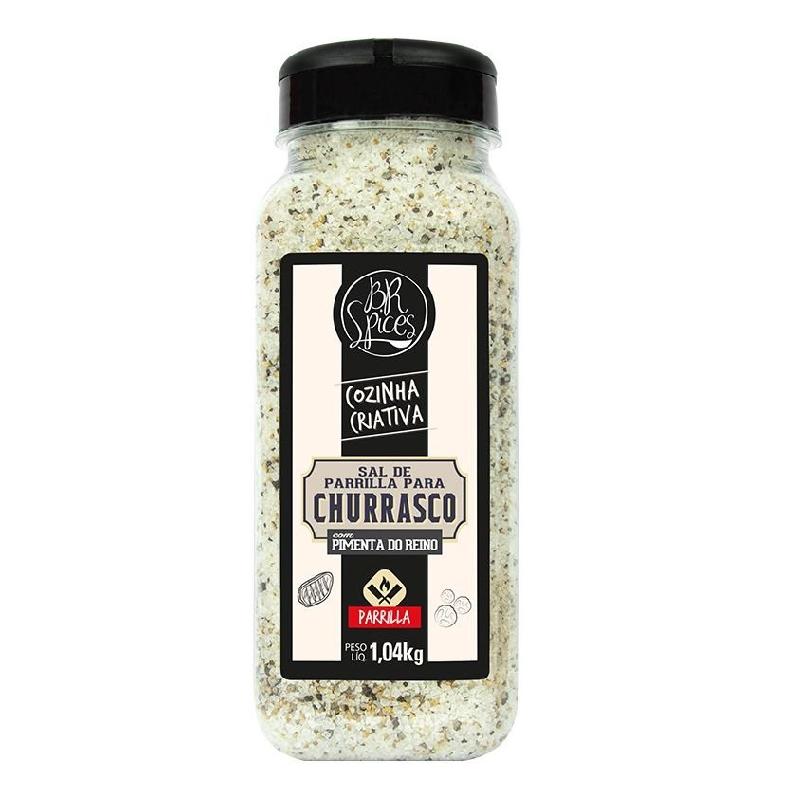 Sal de Parrilla com Pimenta da Reino para Churrasco 1,04 kg BR Spices