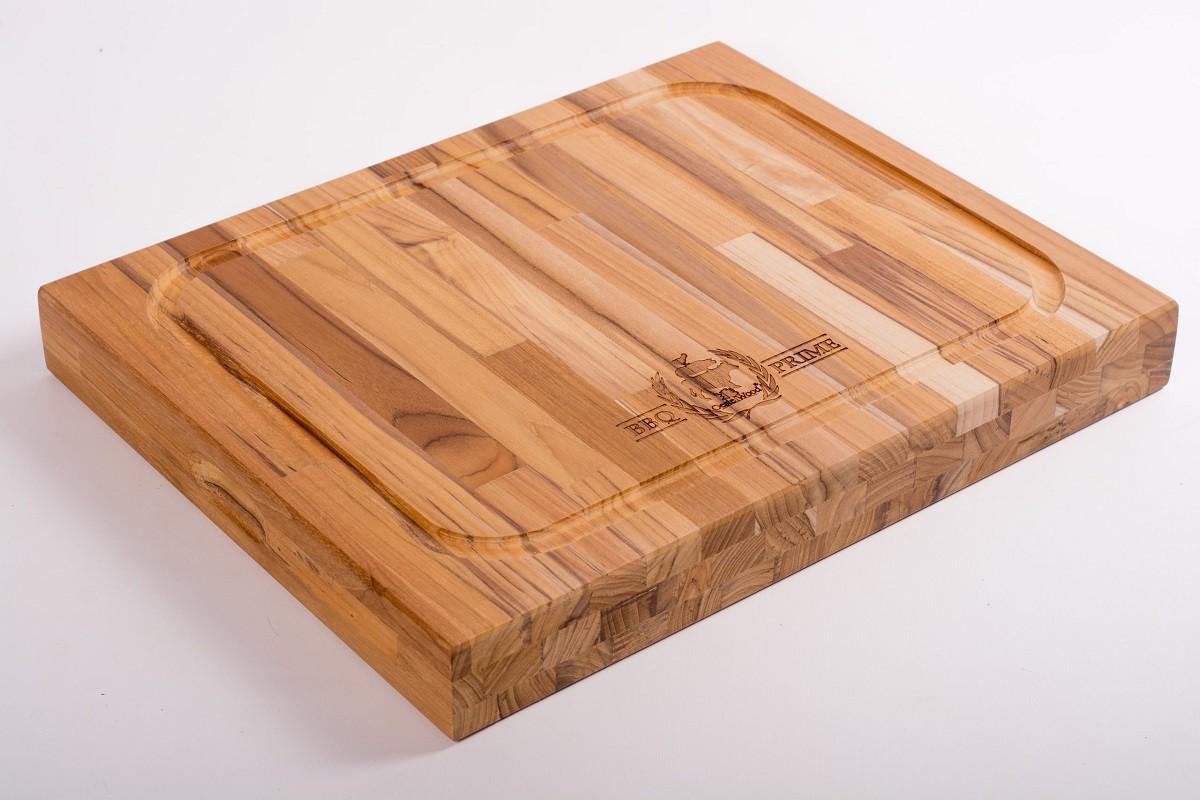 Tábua de corte para Churrasco Chef Master 50 x 40 cm Madeira Teca