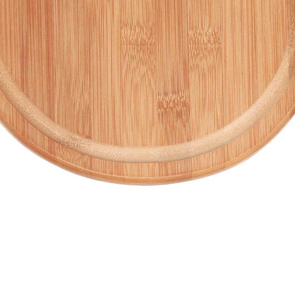 Tábua de corte para Churrasco e Cozinha de Bambu Oval 33 x 23 cm