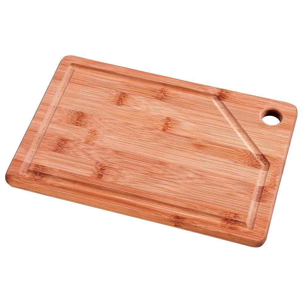 Tábua de corte para Churrasco e Cozinha de Bambu Retangular 30 x 20 cm