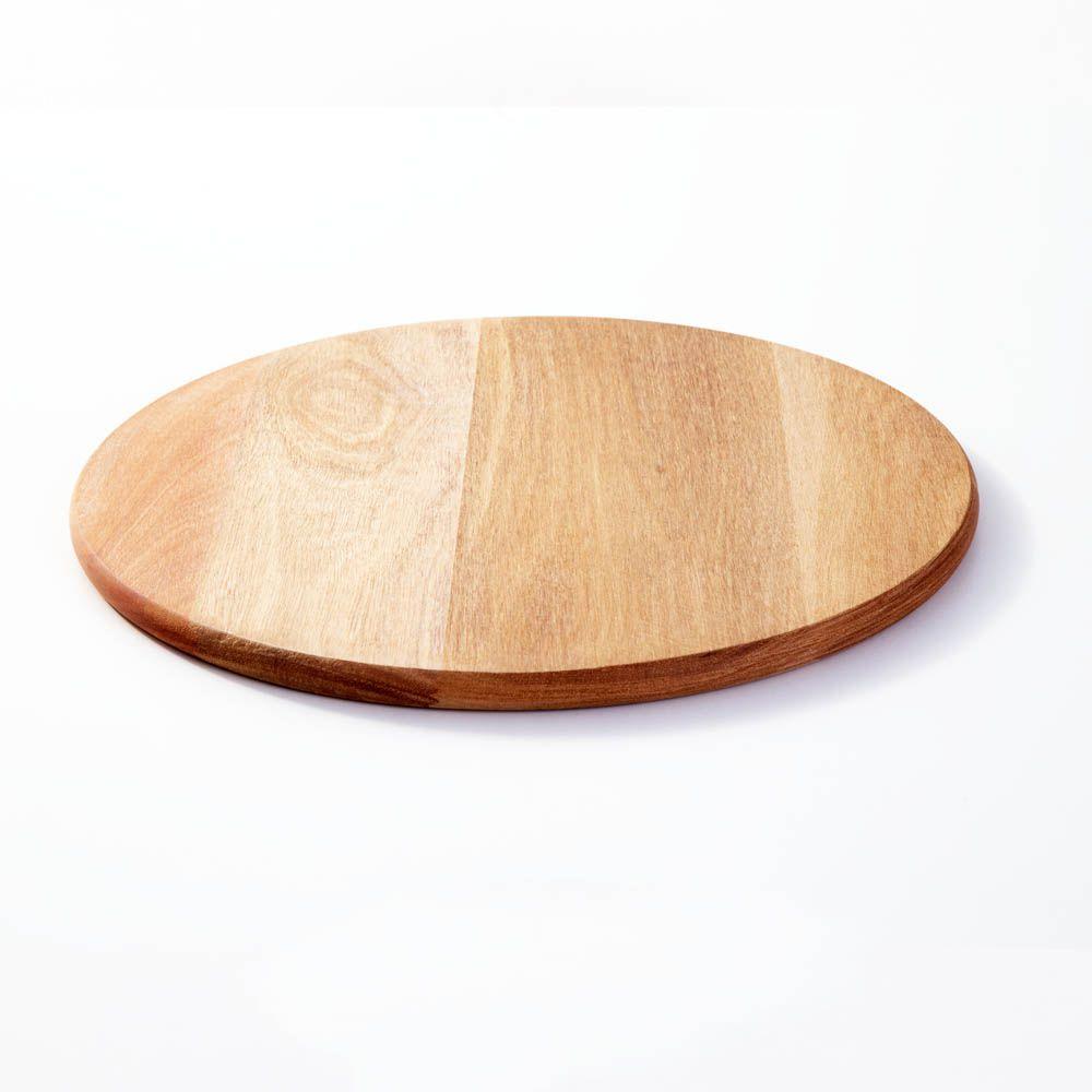 Tábua de Madeira Eucalipto para Pizza e Legumes 35 cm