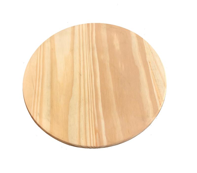Tábua de Madeira para Pizza e Legumes Pinus 35 cm