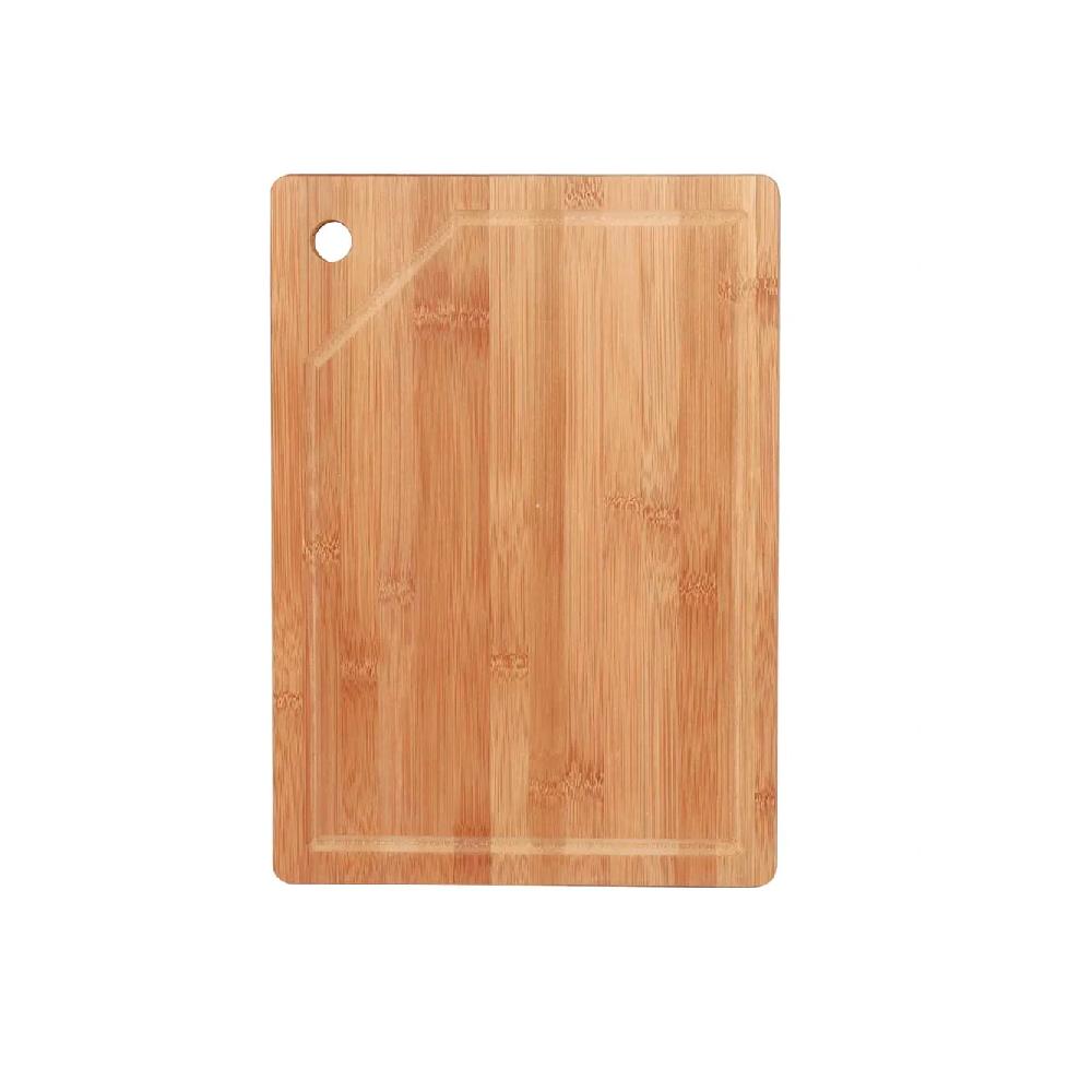 Tábua de corte para Churrasco e Cozinha de Bambu Retangular 35 x 25 cm