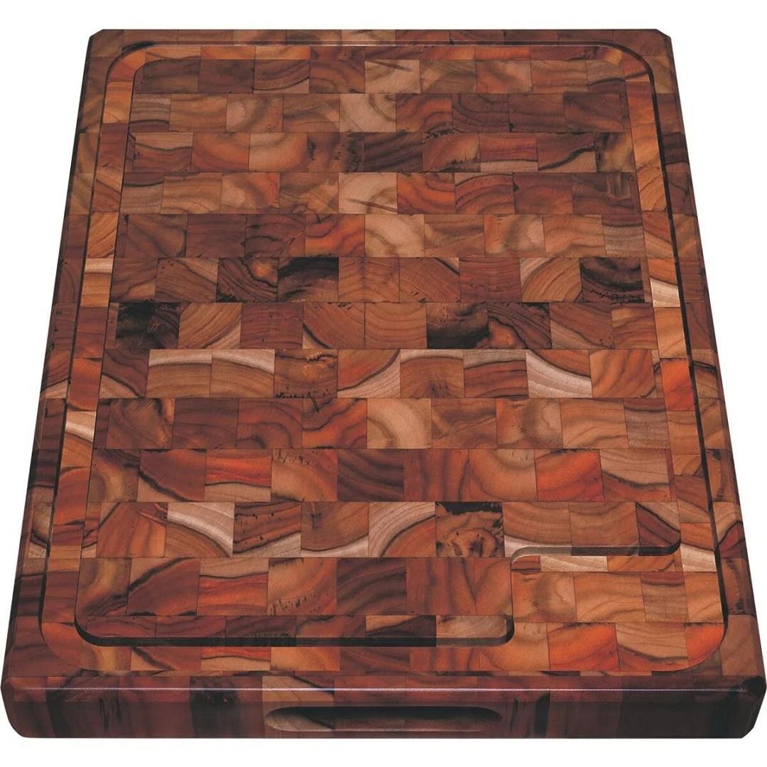 Tábua para Churrasco Retangular em Madeira Invertida Teca com Acabamento Envernizado 45 x 34 cm Tramontina