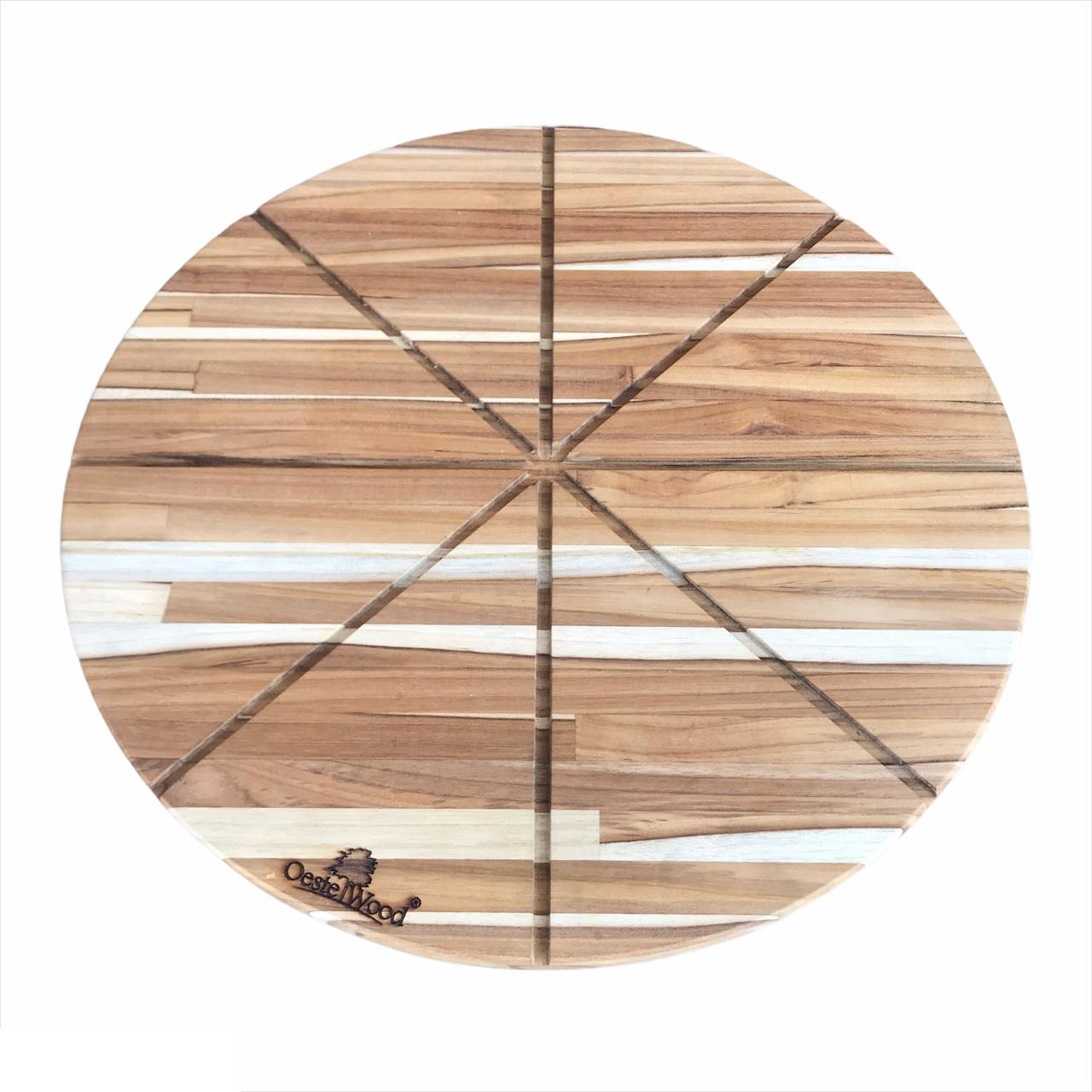 Tábua para Pizza em Madera Teca com Cortador 40 cm Oestwood