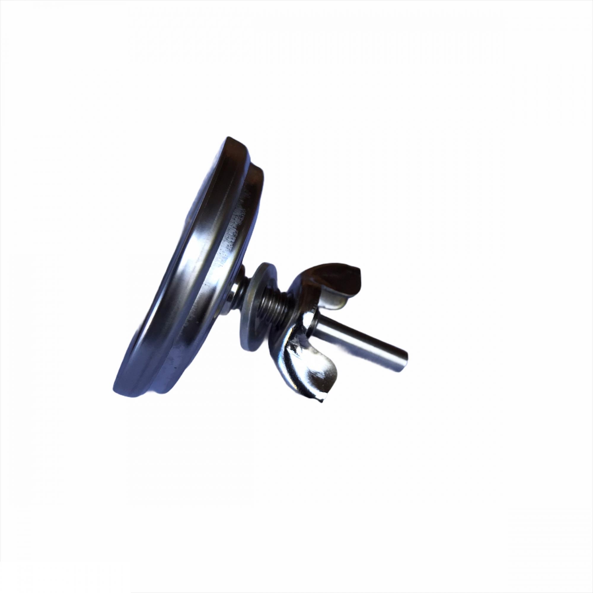 Termômetro Analógico Aço Inox 350°C Haste Curta Preto