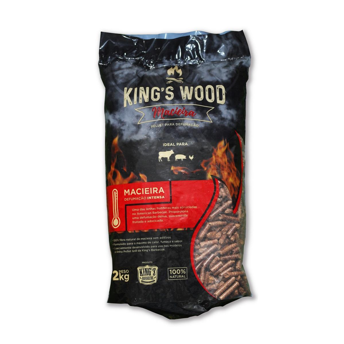 Wood Pellet Macieira 2 kg Kings Barbecue