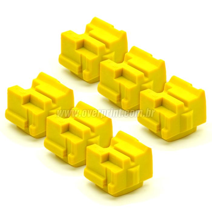 Kit Bastões Cera Compatível Xerox Colorqube 8580 Amarelo (6 unidades)  - Overprint