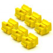 Kit Bastões Cera Compatível Xerox Colorqube 8580 Amarelo (6 unidades)