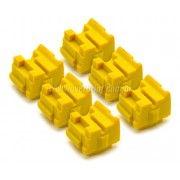 Kit Bastões Cera Compatível Xerox Colorqube 8570 Amarelo (6 unidades) - Overprint
