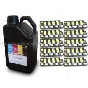 Kit Recarga 1Kg Toner + 10 Chips Xerox Phaser 3010 | 3040 | 3045 - Overprint