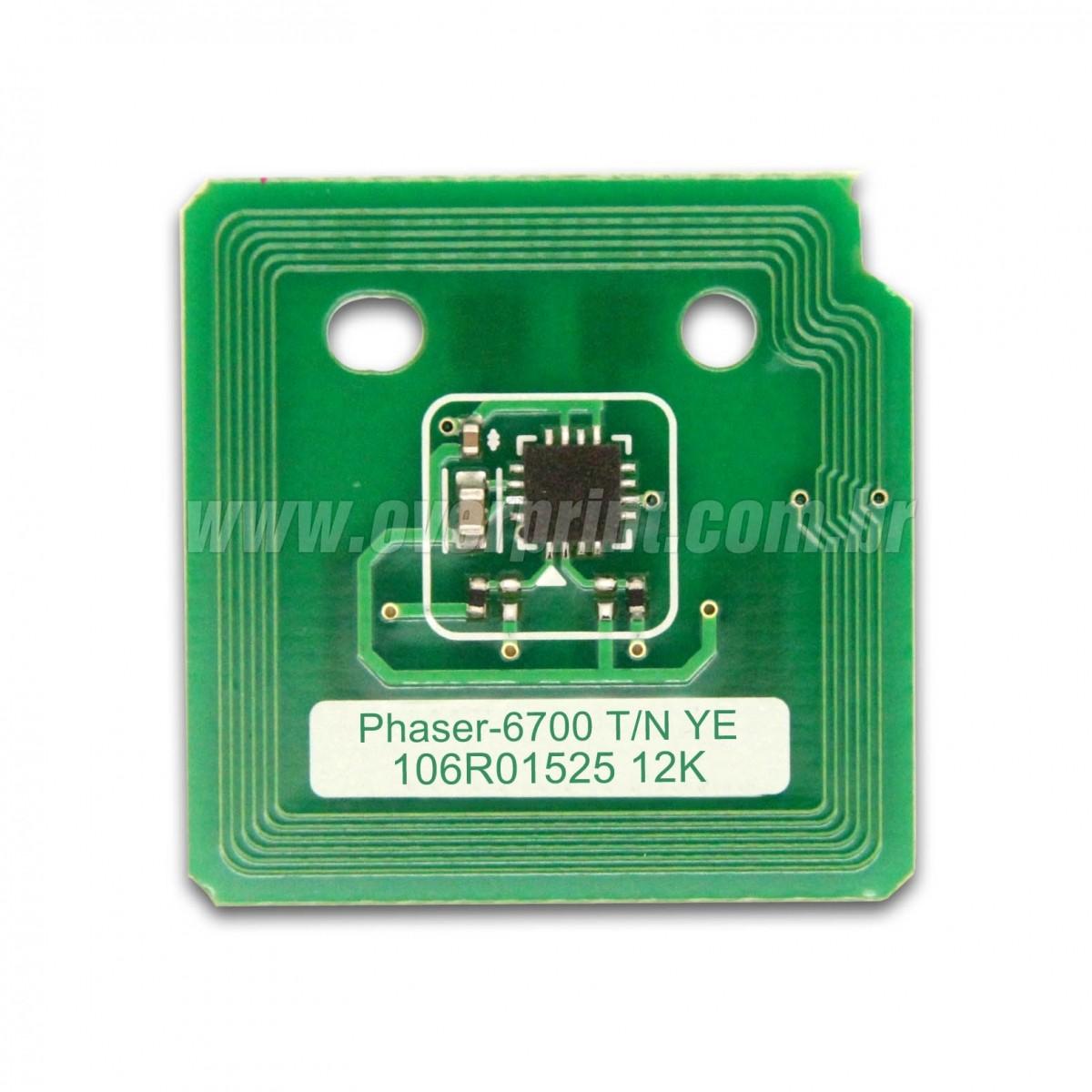 Chip Cartucho de Toner Xerox Phaser 6700 - Overprint