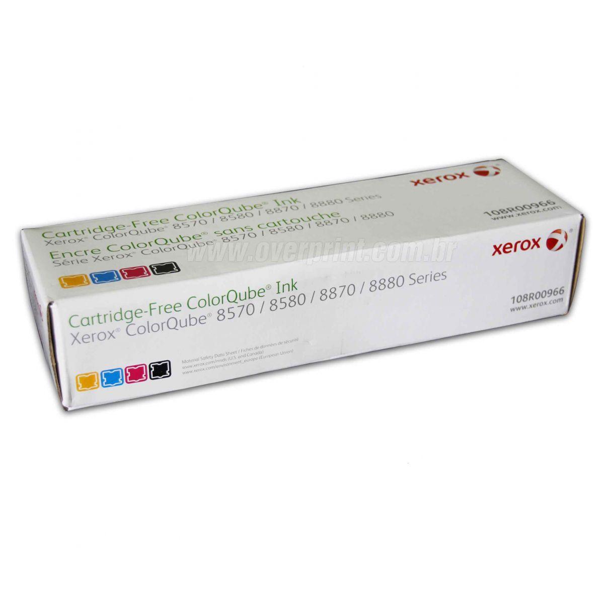 Kit Bastões de Cera Original Xerox ColorQube 8570/8580/8870/8880 (4 cores)  - Overprint