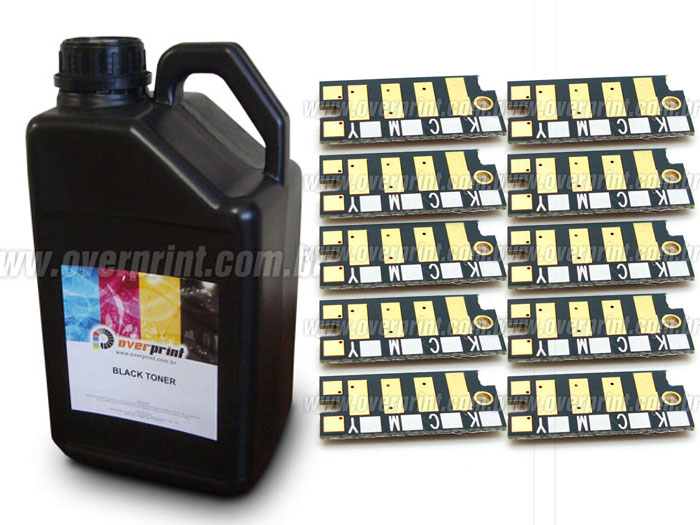 Kit Recarga 1Kg Toner + 10 Chips Xerox Phaser 3010 | 3040 | 3045 - Overprint
