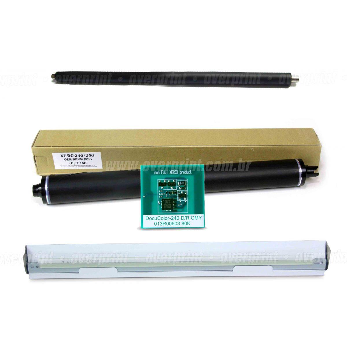 Kit Remanufatura Unidade de Imagem Colorido Xerox Docucolor 240/242/250/252/260  - Overprint
