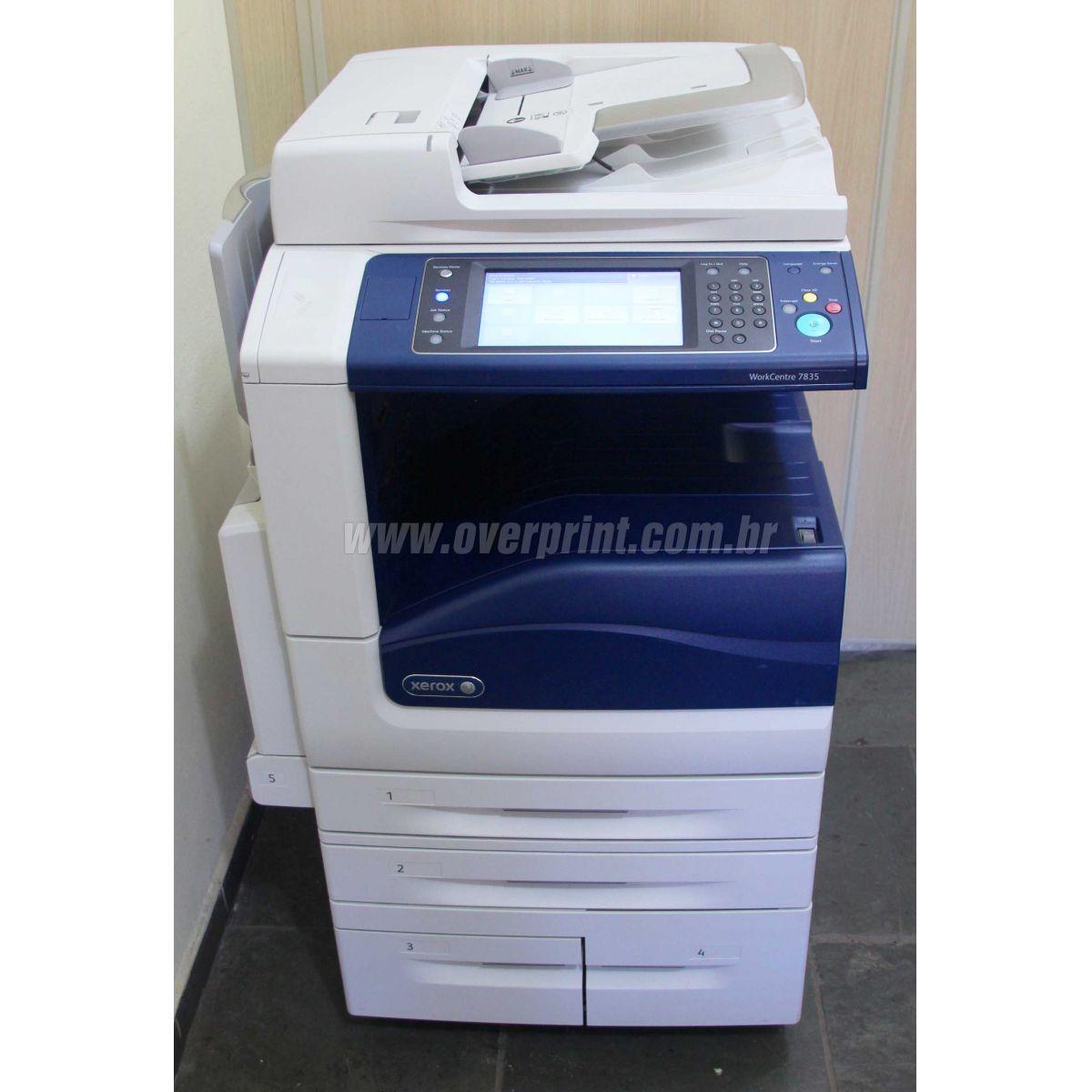 Multifuncional Xerox WorkCentre 7545 - Overprint