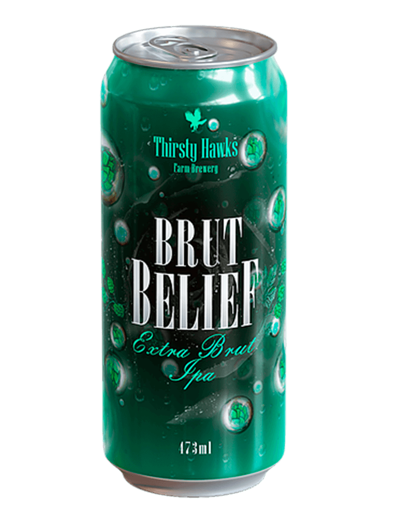 Cerveja Brut Belief Thirsty Hawks 473ml