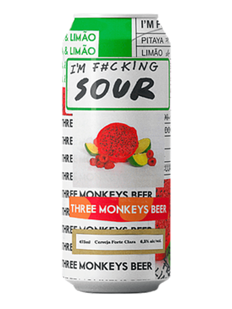 Cerveja Three Monkeys I'm F#cking Sour 473ml