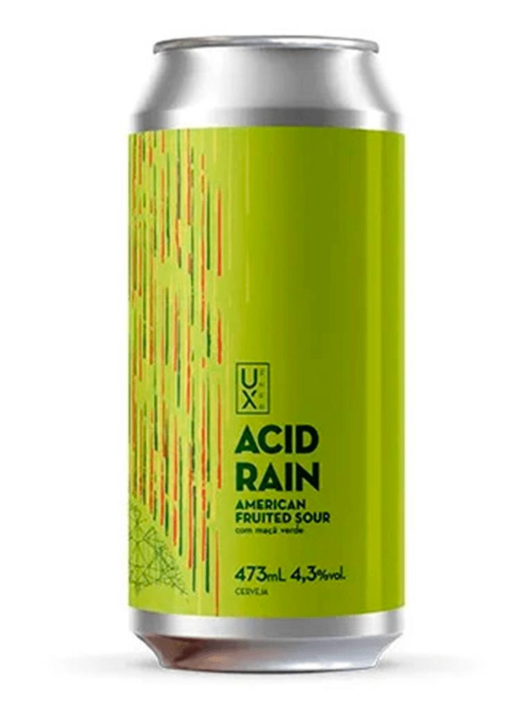 Cerveja Ux Brew Acid Rain Maça Verde 473ml