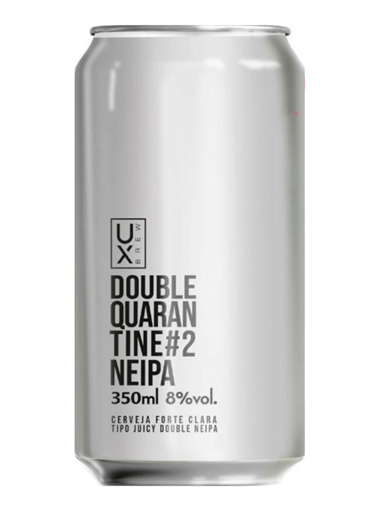 Cerveja Ux Brew Double Quarantine #2 NEIPA 350ml