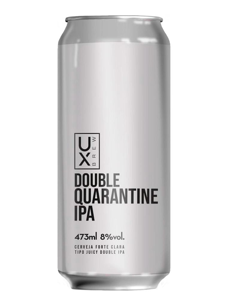 Cerveja Ux Brew Double Quarantine IPA 473ml