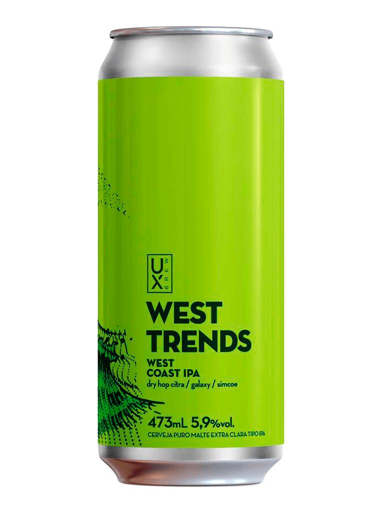 Cerveja Ux Brew West Trends 473ml