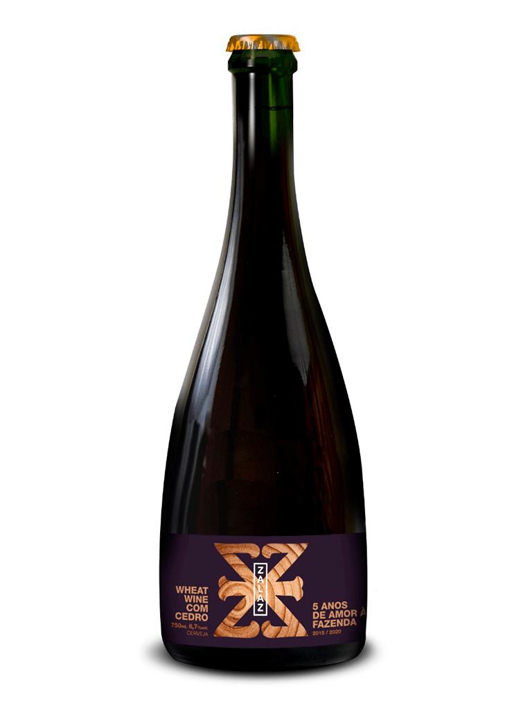 Cerveja Zalaz 5 Anos Wheat Wine com Cedro 750ml