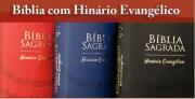 BÍBLIA SAGRADA - HINÁRIO EVANGÉLICO - COR VERMELHA