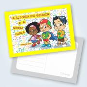 Cartão Alegria Do Senhor - Pacote Com 25 Unidades