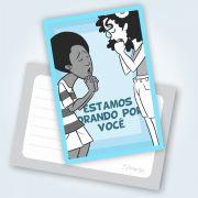 Cartão Estamos Orando Por Você! - Téo E Letícia - Pacote Com 25 Unidades