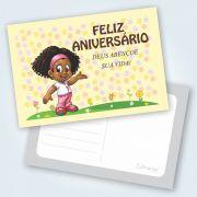 Cartão Feliz Aniversário Aventureiros - Pacote Com 25 Unidades