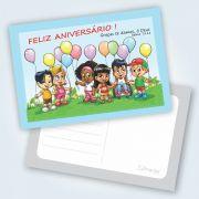 Cartão Feliz Aniversário - Pacote Com 25 Unidades