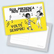 Cartão Volte Sempre - Téo E Letícia - Pacote Com 25 Unidades