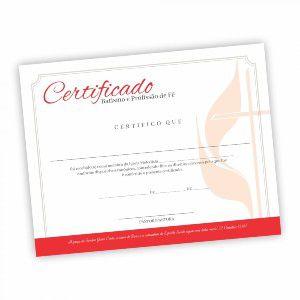 Certificado Batismo E Profissão De Fé - Pacote (50 unidade)